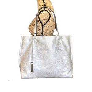 Street Level Textured Silver Tote/Shoulder Bag